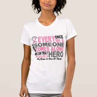HERO COMES ALONG 1 Mom BREAST CANCER T-Shirts