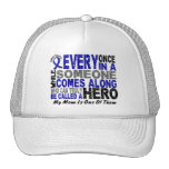 HERO COMES ALONG 1 Mom COLON CANCER T-Shirts Mesh Hat