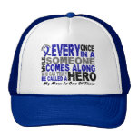 HERO COMES ALONG 1 Mom COLON CANCER T-Shirts Trucker Hat