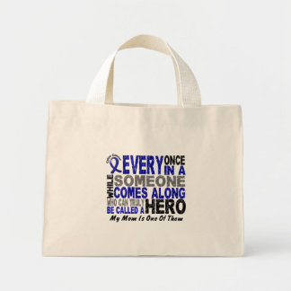 HERO COMES ALONG 1 Mom COLON CANCER T-Shirts Mini Tote Bag