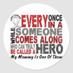 HERO COMES ALONG 1 Mommy LUNG CANCER Stickers