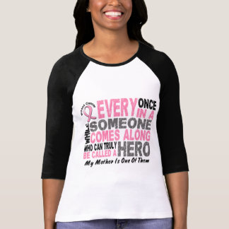 HERO COMES ALONG 1 Mother BREAST CANCER T-Shirts
