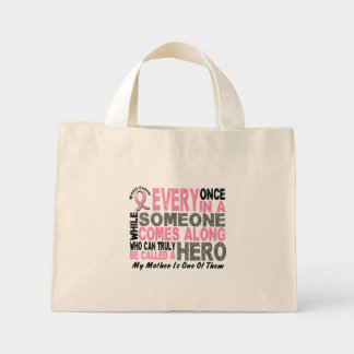 HERO COMES ALONG 1 Mother BREAST CANCER T-Shirts Tote Bags
