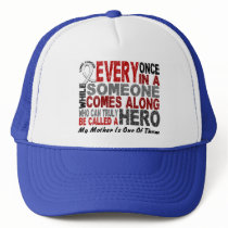 Hero Comes Along 1 Mother Lung Cancer Trucker Hat