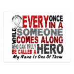 HERO COMES ALONG 1 Nana LUNG CANCER Postcard