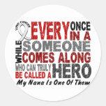 HERO COMES ALONG 1 Nana LUNG CANCER Round Sticker