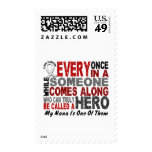 HERO COMES ALONG 1 Nana LUNG CANCER Stamps
