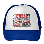 HERO COMES ALONG 1 Nana LUNG CANCER Trucker Hat