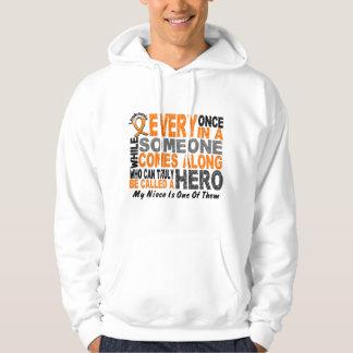 HERO COMES ALONG 1 Niece LEUKEMIA T-Shirts
