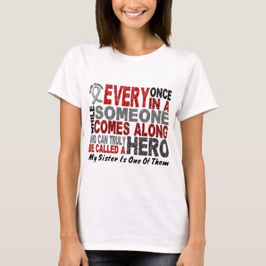 HERO COMES ALONG 1 Sister BRAIN CANCER T-Shirts