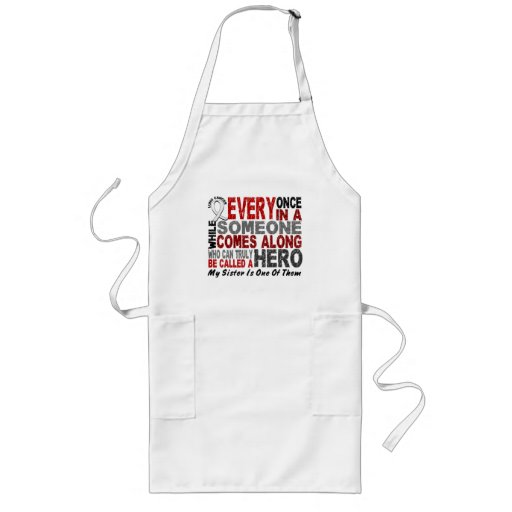 HERO COMES ALONG 1 Sister LUNG CANCER Apron