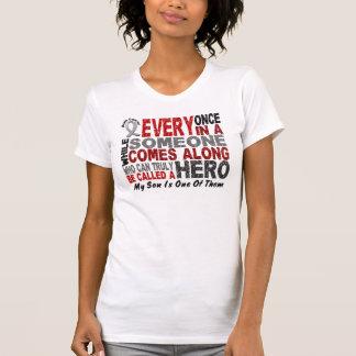 HERO COMES ALONG 1 Son BRAIN CANCER T-Shirts