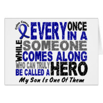 HERO COMES ALONG 1 Son COLON CANCER T-Shirts