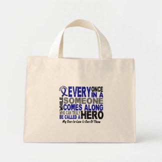 HERO COMES ALONG 1 Son-In-Law COLON CANCER T-Shirt Mini Tote Bag