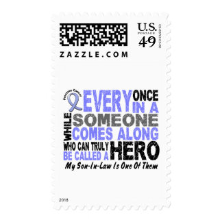HERO COMES ALONG 1 Son-In-Law PROSTATE CANCER Postage Stamp