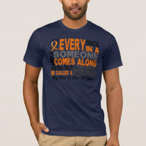 HERO COMES ALONG 1 Son LEUKEMIA T-Shirts