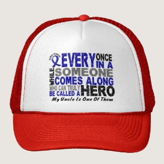 HERO COMES ALONG 1 Uncle COLON CANCER T-Shirts Trucker Hat