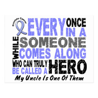 HERO COMES ALONG 1 Uncle PROSTATE CANCER Postcards