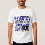 HERO COMES ALONG 1 Wife COLON CANCER Tee Shirts
