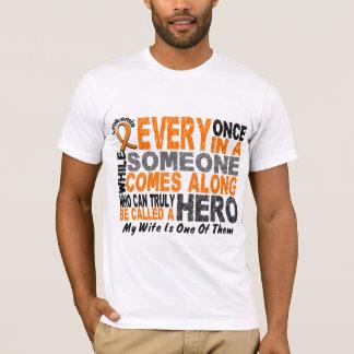 HERO COMES ALONG 1 Wife LEUKEMIA T-Shirts