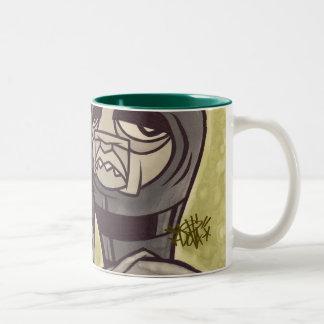 hero drawing Two-Tone coffee mug