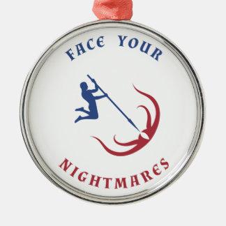 Hero Facing Nightmare Monster Metal Ornament