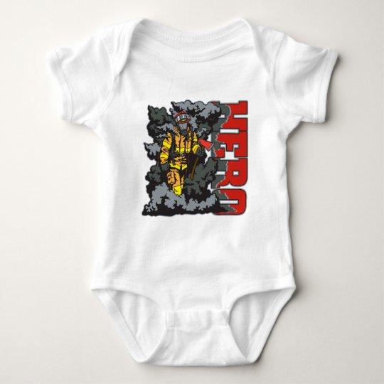 HERO Firefighter Baby Bodysuit
