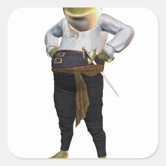 Hero Frog Square Sticker