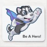 Hero Husky Mouse Pad