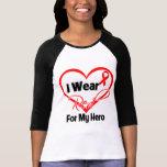 Hero - I Wear a Red Heart Ribbon T Shirt