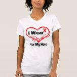 Hero - I Wear a Red Heart Ribbon Tshirt