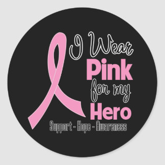 Hero - I Wear Pink - Breast Cancer Stickers