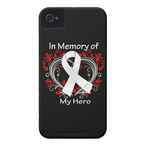Hero - In Memory Lung Cancer Heart Case-Mate iPhone 4 Case