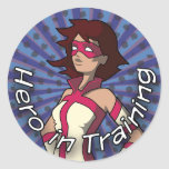 Hero in Training Classic Round Sticker