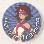 Hero in Training Drink Coaster