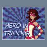 Hero in Training Postcard