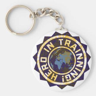 Hero in trainning keychain