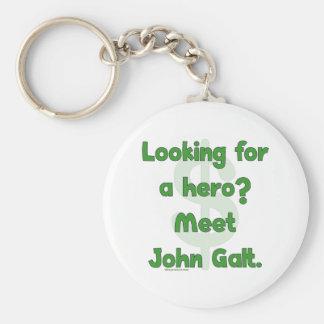 Hero John Galt Basic Round Button Keychain
