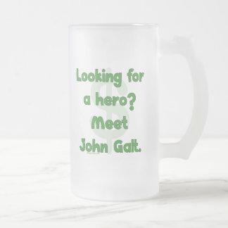 Hero John Galt Frosted Glass Beer Mug