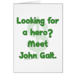 Hero John Galt Greeting Card