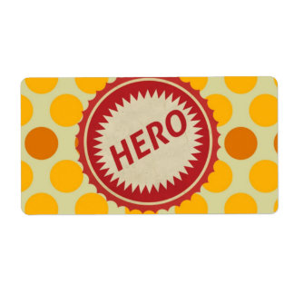 HERO Label on Polka Dot Pattern Shipping Label