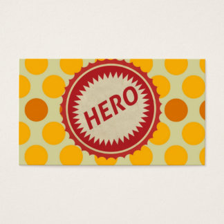 HERO Label on Polka Dot Pattern Business Card