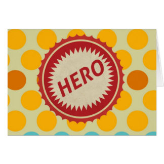 HERO Label on Polka Dot Pattern Stationery Note Card