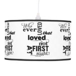 Hero & Leander Love Quote Ceiling Lamp