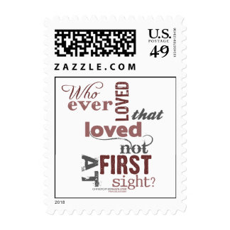 Hero & Leander Love Quote Postage Stamps