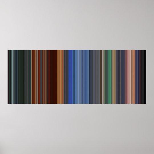 Hero movie barcode poster