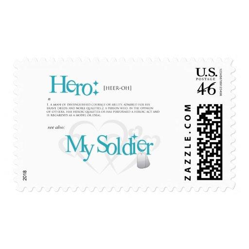Hero: My Soldier Postage Stamp