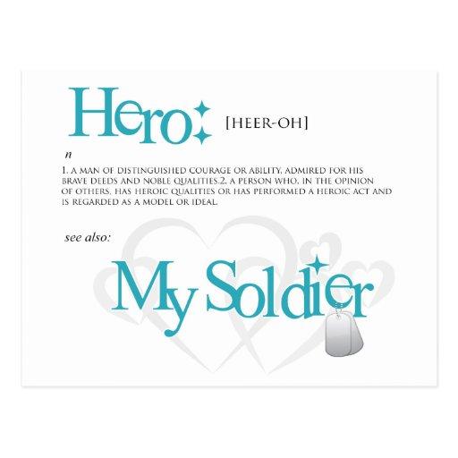 Hero: My Soldier Post Card