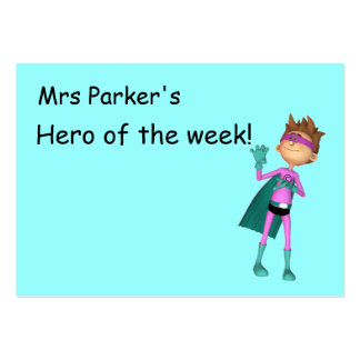 Hero of the week reward card large business cards (Pack of 100)