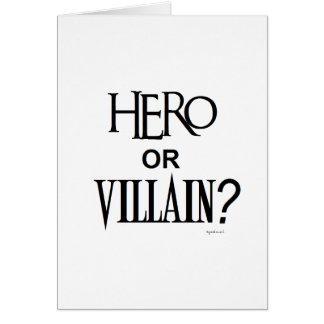 Hero or Villian Card
